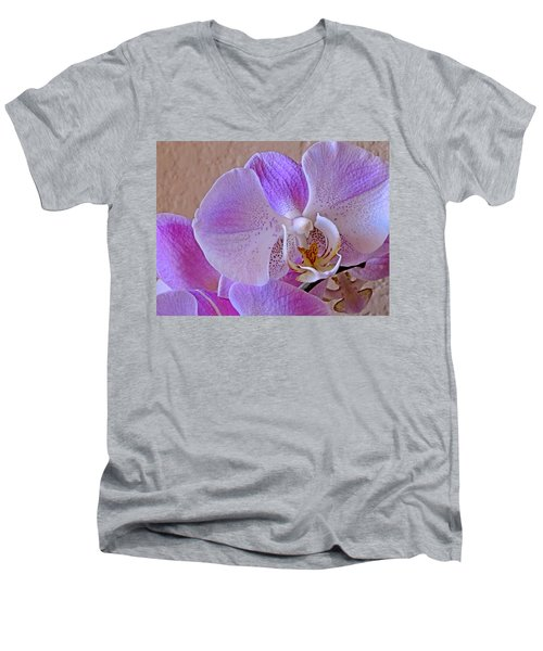 Grace And Elegance Men's V-Neck T-Shirt by Lynda Lehmann