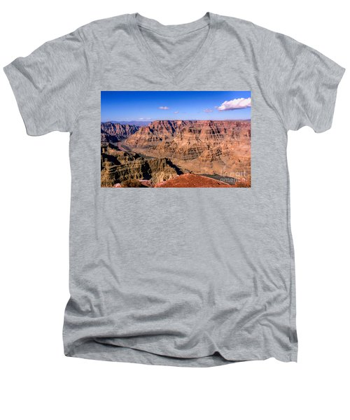 Grand Canyon Men's V-Neck T-Shirt by Lynn Bolt