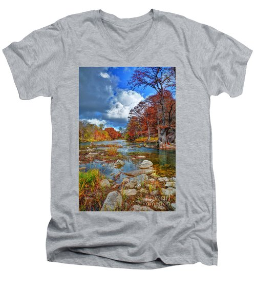 Guadalupe In The Fall Men's V-Neck T-Shirt