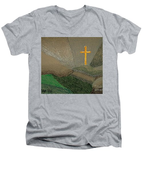 Depression And The Saviour Men's V-Neck T-Shirt by Rod Ismay