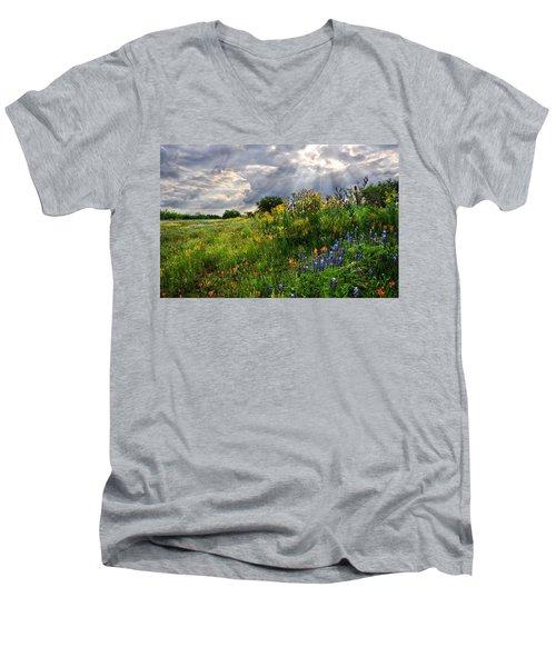 Heaven's Light  Men's V-Neck T-Shirt by Lynn Bauer