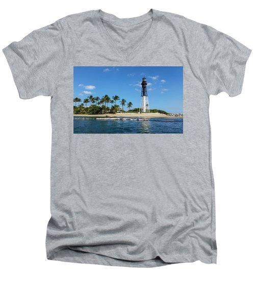 Hillsboro Inlet Lighthouse Men's V-Neck T-Shirt