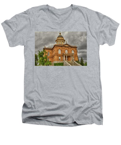 Historic Placer County Courthouse Men's V-Neck T-Shirt by Jim Thompson