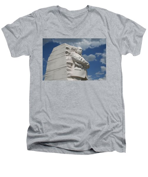 Men's V-Neck T-Shirt featuring the photograph Honoring Martin Luther King by Cora Wandel