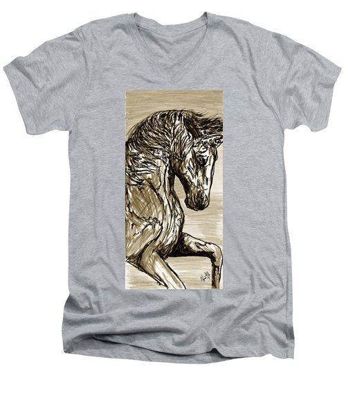Horse Twins I Men's V-Neck T-Shirt