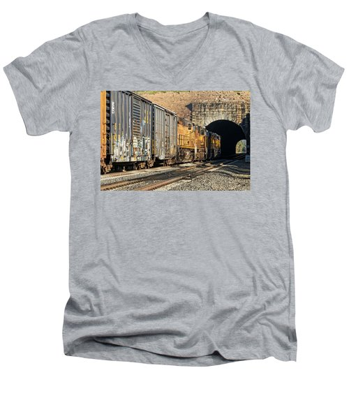 Men's V-Neck T-Shirt featuring the photograph Hp 8717 by Jim Thompson