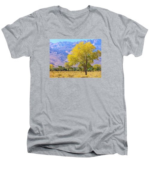 Men's V-Neck T-Shirt featuring the photograph In All Its Glory by Marilyn Diaz