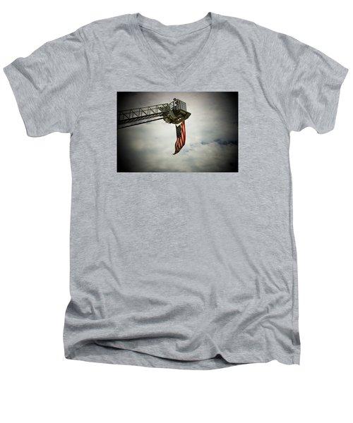 In Honor Men's V-Neck T-Shirt by Susan  McMenamin