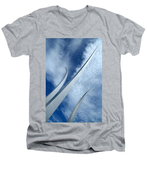 Men's V-Neck T-Shirt featuring the photograph Into The Clouds by Cora Wandel