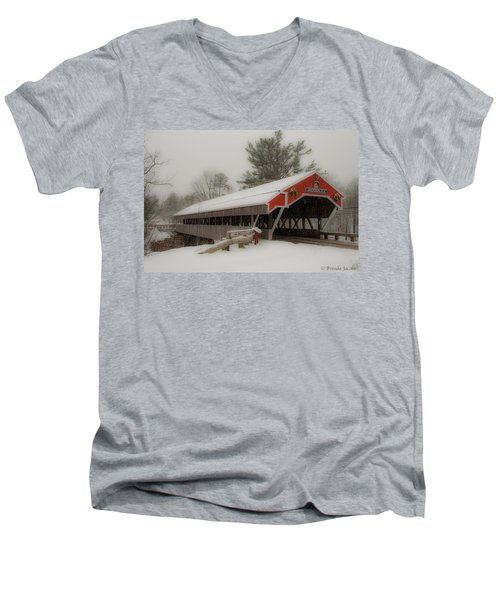 Jackson Nh Covered Bridge Men's V-Neck T-Shirt