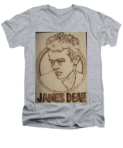 James Dean Men's V-Neck T-Shirt by Sean Connolly