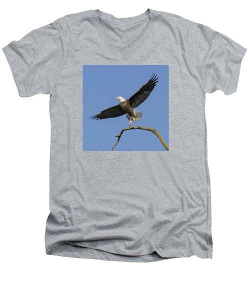 King Of The Sky 3 Men's V-Neck T-Shirt by David Lester