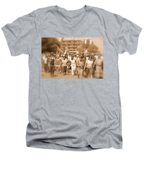 Labor Day Parade Men's V-Neck T-Shirt