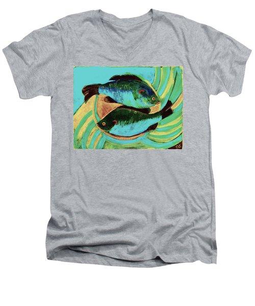 Lake Martin  Fish Men's V-Neck T-Shirt