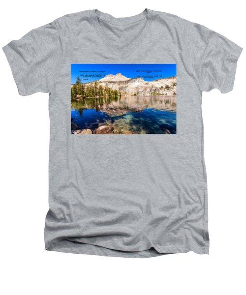 Lao Tzu Quotes Men's V-Neck T-Shirt