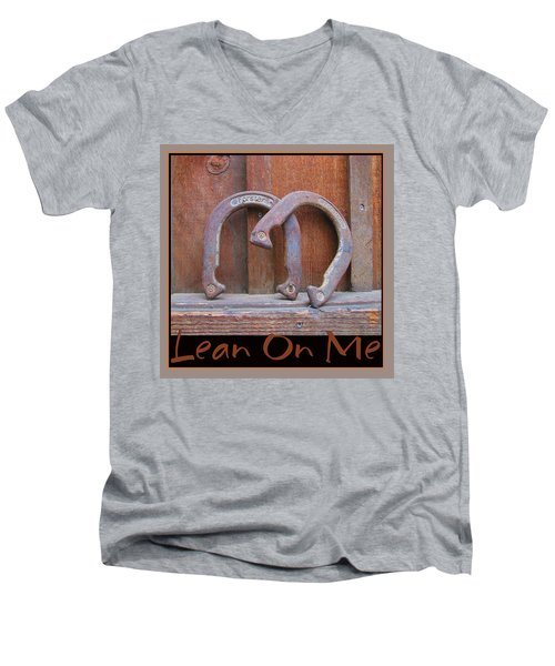 Men's V-Neck T-Shirt featuring the photograph Lean On Me by Brooks Garten Hauschild