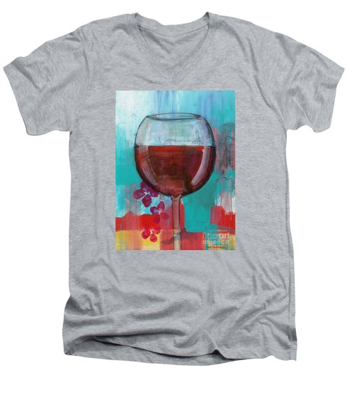 Men's V-Neck T-Shirt featuring the painting Let It Breathe by Robin Maria Pedrero