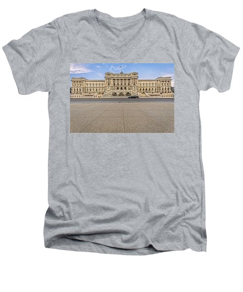 Men's V-Neck T-Shirt featuring the photograph Library Of Congress by Peter Lakomy