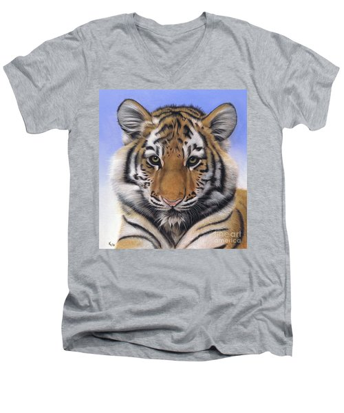 Little Big Cat Men's V-Neck T-Shirt