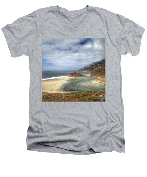 Little Sur River In Big Sur Men's V-Neck T-Shirt