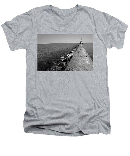 Long Thought Men's V-Neck T-Shirt by Jamie Lynn