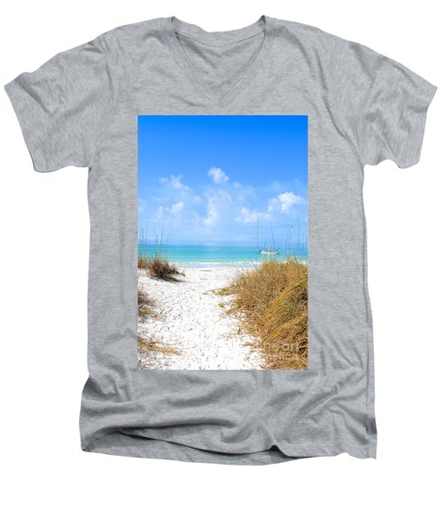 Anna Maria Island Escape Men's V-Neck T-Shirt by Margie Amberge