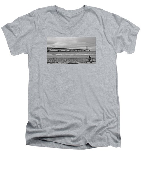 Looking North Men's V-Neck T-Shirt by Daniel Thompson