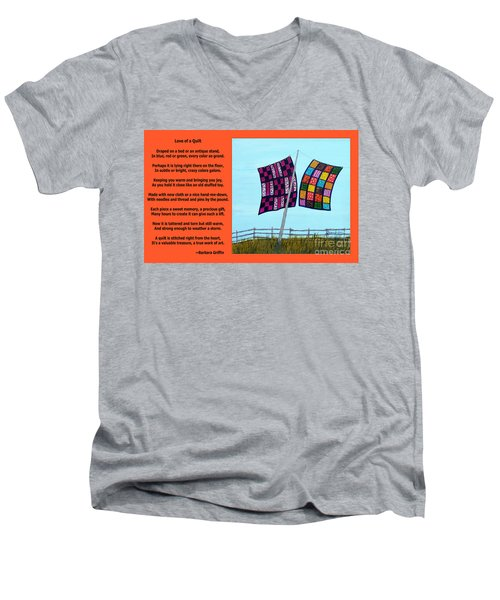Love Of A Quilt  Men's V-Neck T-Shirt by Barbara Griffin