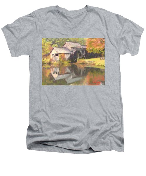 Mabry Mill Men's V-Neck T-Shirt