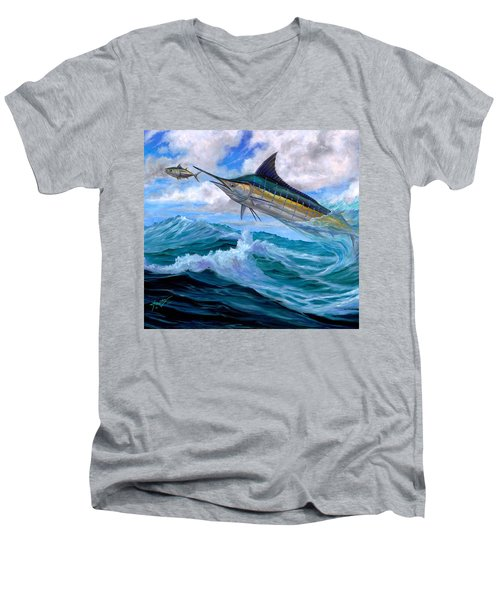 Marlin Low-flying Men's V-Neck T-Shirt