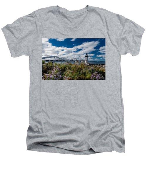 Marshall Point Lighthouse Men's V-Neck T-Shirt
