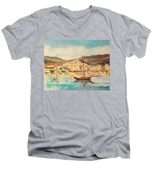 Mentone Harbour Men's V-Neck T-Shirt