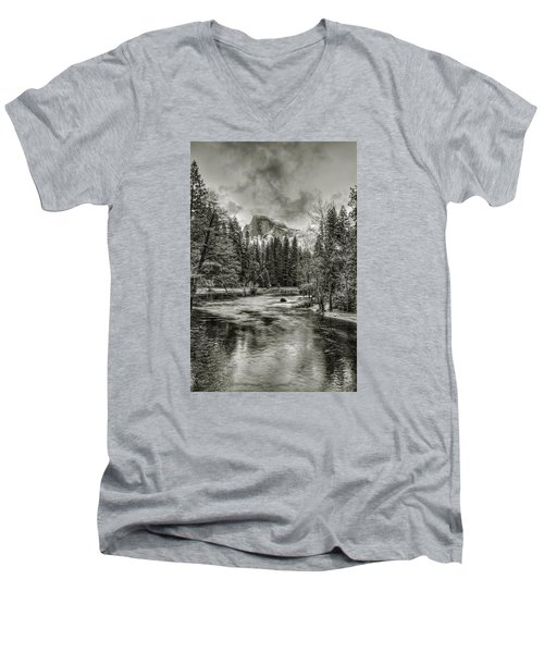 Ascending Clouds Toned Men's V-Neck T-Shirt