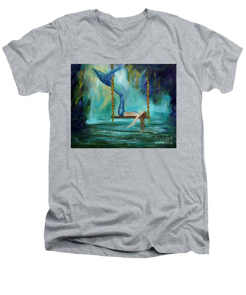 Mermaids Lazy Lagoon Men's V-Neck T-Shirt