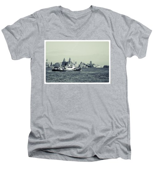 Mersey Ferry Men's V-Neck T-Shirt