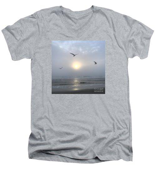 Moment Of Grace Men's V-Neck T-Shirt by LeeAnn Kendall