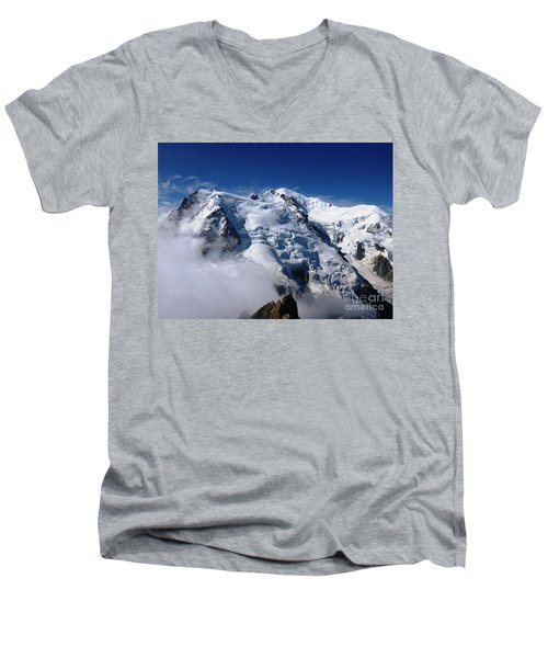 Mont Blanc - France Men's V-Neck T-Shirt