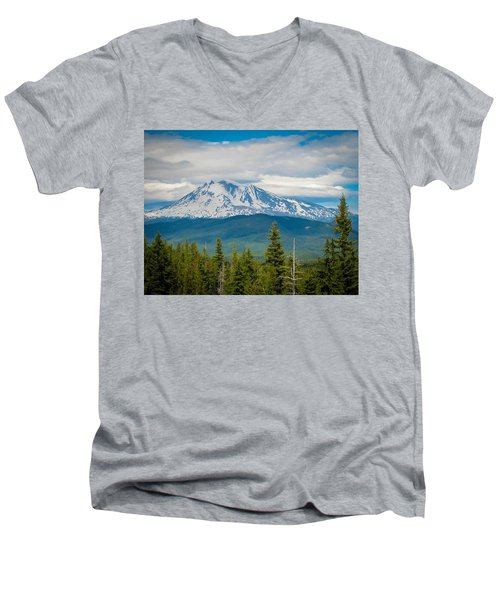 Mt. Adams From Indian Heaven Wilderness Men's V-Neck T-Shirt