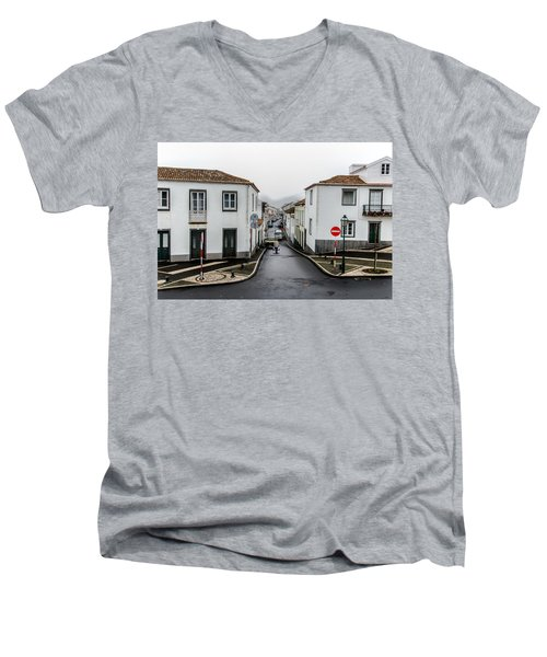 Municipality Of Ribeira Grande Men's V-Neck T-Shirt