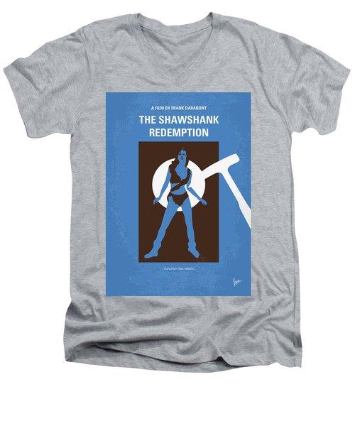 No246 My The Shawshank Redemption Minimal Movie Poster Men's V-Neck T-Shirt