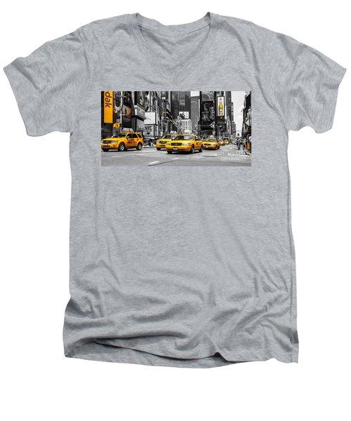 Nyc Yellow Cabs - Ck Men's V-Neck T-Shirt