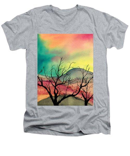 October Sky Men's V-Neck T-Shirt
