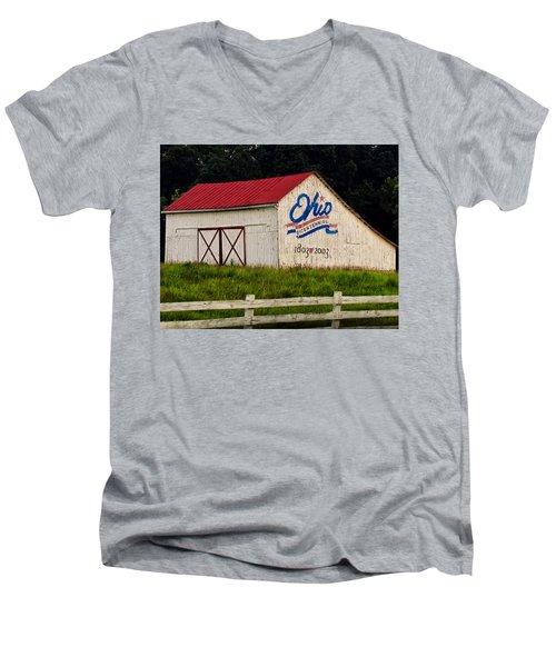 Ohio Bicentennial Barn Men's V-Neck T-Shirt