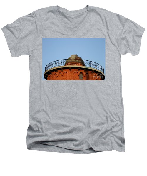 Men's V-Neck T-Shirt featuring the photograph Old Observatory by Henrik Lehnerer
