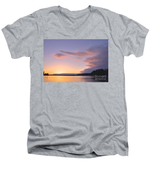 Men's V-Neck T-Shirt featuring the photograph On Puget Sound - 2 by Sean Griffin