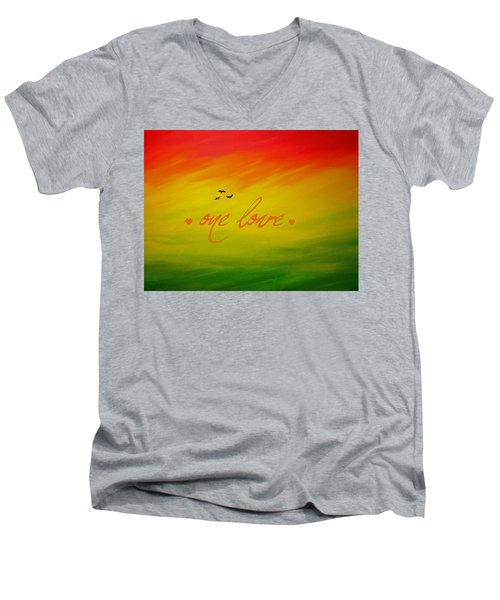 One Love Men's V-Neck T-Shirt