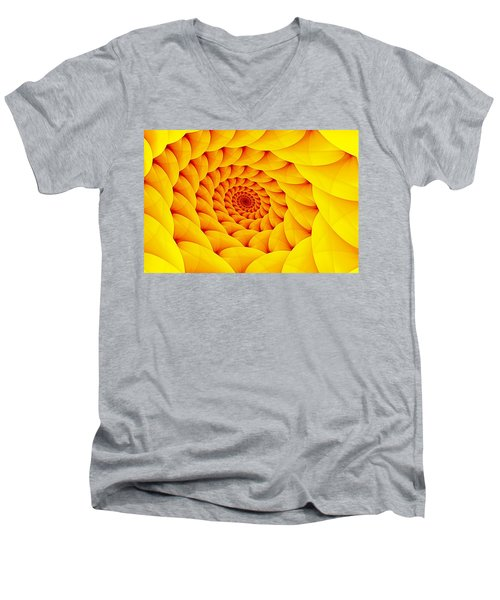 Yellow Pillow Vortex Men's V-Neck T-Shirt