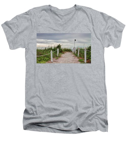 Pathway To The Beach Men's V-Neck T-Shirt