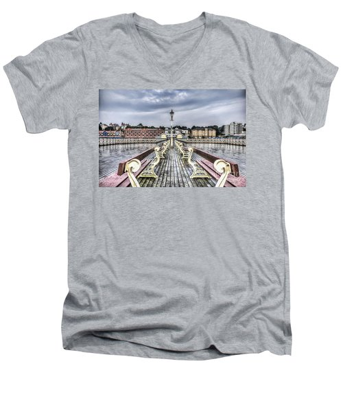 Penarth Pier 5 Men's V-Neck T-Shirt
