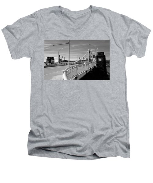 Pittsburgh - Roberto Clemente Bridge Men's V-Neck T-Shirt